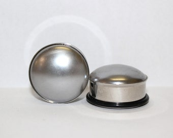 "Silver Pearl Plugs 1"" 25mm Single Flare"