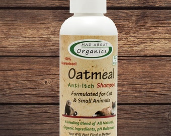 Oatmeal Anti-Itch Shampoo Formulated for Cats - Small Animals  4oz