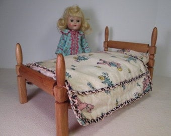 Vintage Strombecker Doll Bed - Made for Vogue Ginny - 1950's