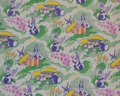 Vintage 1940's Easter Bunnies Gift Wrap Wrapping Paper 4 Full Sheets 9 x 11