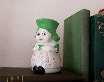 Milk Maid Dutch Girl Creamer Pitcher Ceramic Vintage Made in Japan 1950s Figural