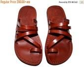 20% OFF Brown Buckle-Free Leather Sandals for Men & Women - Handmade Unisex Sandals, Flip Flop Sandals, Jesus Sandals, Genuine Leather Sanda