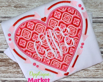 Machine Embroidery Design Embroidery Arrow Heart Frame INSTANT DOWNLOAD