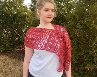Shawl Crochet PATTERN -  shoulder wrap - Shawl Crochet Pattern - One Love Shawl