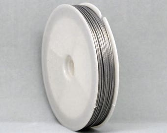 Stainless Steel Beading Wire Thread Cord Antique Silver 0.8mm - 15 meters