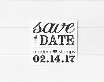 Custom Wedding Stamp   Save the Date Stamp   Custom Rubber Stamp   Custom Stamp   Personalized Stamp   Rustic Save the Date    D14