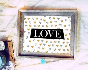 love heart  {love print series}