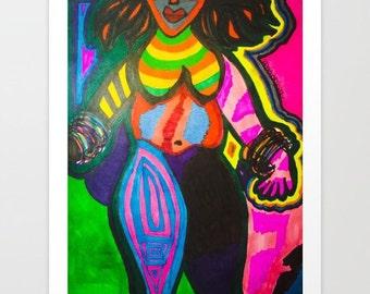 Bliss Print, 8x10 African American Art