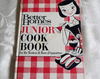 Better Homes And Gardens Junior Cook Book First Printing 1963 Hardcover