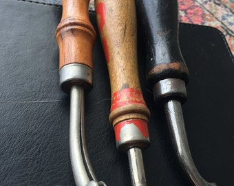 Leatherwork Tools > Push Beveler/Creaser> 3 pc collection