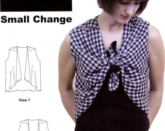 Sale! Small Change vest pattern (SSO1004) - Sewn…Square One