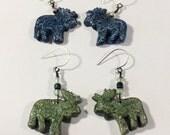 Custom Moose Earrings
