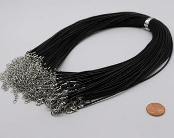 NEW 10pcs 2.0mm 18-20 inch adjustable black compressed cotton quality necklace cord