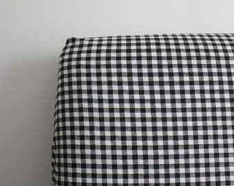Black and White Gingham Crib Sheet | Gender Neutral Crib Sheet | Fitted Crib Sheet