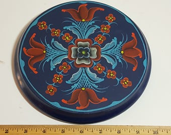 NORDIC, SCANDINAVIAN, NORWEGIAN, Rosemaling small wooden plaque