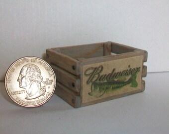 Miniature Budweiser Crate 1:12 scale