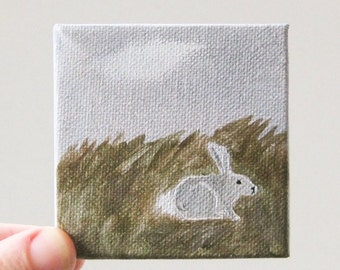 runaway bunny / original painting on canvas