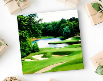 "Unique Golf Gift for Golfers - Golf Art - Golf Course Picture - Golf Decor - Gift For The Golfer - Photo on Canvas - Canvas Art Print  8""x8"""