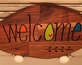 WELCOME Sign for NEW HOMEOWNERS Just Married Vacation Home Hostess Gift Best Friend