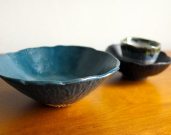 One of a kind series - Small bowl - Teal