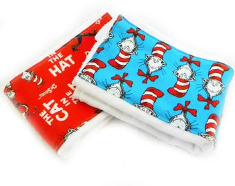 Baby Burp Cloths - Dr. Seuss - You Choose - Set of 2 Boy or Girl // Cotton Burp Cloth / Baby Shower Gift