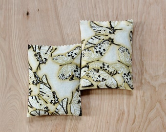 Lavender Drawer Sachets, Yellow and Black Butterfly Scent Bags, Gift for Women