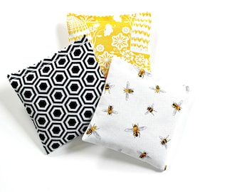 3 Lavender Sachets, Scented Sachets for Women, Bee Decor, Bee Lover Gift
