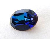 Vintage Swarovski Crystal Rhinestone Bermuda Blue Faceted Oval Glass Jewel 18x13mm swa0773 (1)