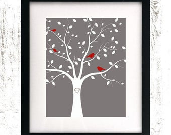 Printable Custom Family Tree - Anniversary Gift - Family Tree Wall Art - Custom Sign - Genealogy Print - Ancestry