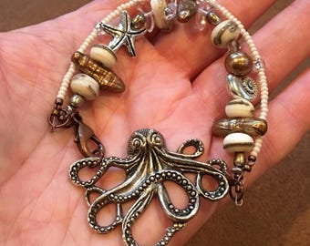 Ocean Treasures - Octopus/Sea Star/Snail Bracelet