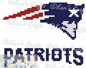 New England Patriots C2C Afghan PDF Pattern Graph + Written Instructions - Instant Download