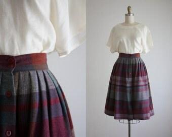 1970s bell plaid skirt