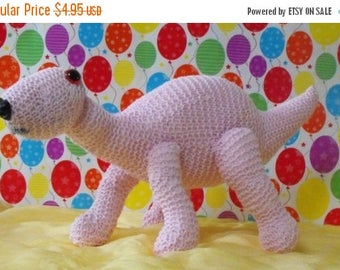 50% OFF SALE Instant Digital File pdf download knitting pattern - Baby Dinosaur Nursery toy animal pdf download knitting pattern