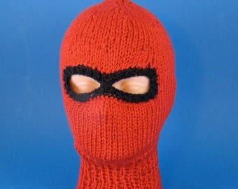 50% OFF SALE Digital file pdf download knitting pattern only-Chunky Ski mask Balaclava knitting pattern pdf download by madmonkeyknits