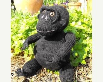 50% OFF SALE digital pdf download knitting pattern-Malcolm Monkey toy animal pdf download knitting pattern
