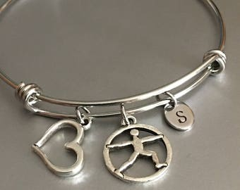 Yoga bracelet,Yoga charm,Monogram,gift for her, Bracelet,Friendship bracelet ,Yoga jewelry, Personalized jewelry,Jewelry,Charm bracelet,Gift