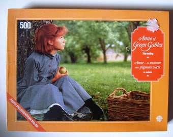 "Anne of Green Gables Jigsaw Puzzle Mint 500 Pieces New Sealed Complete ""Harvesting"" LM Montgomery Megan Follows Sullivan Productions Redhead"