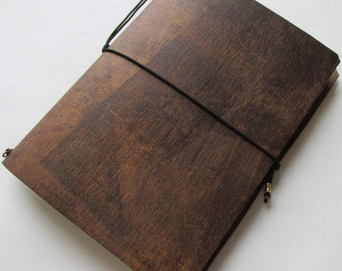 Junk journal mini collage paper notebook mini travellers notebook style fauxdori brown sepia