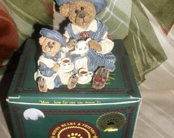 Boyds Bears - Bearstone collection - Catherine & Caitlin - Fine cup of Tea