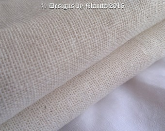 Natural Linen Fabric, Off White Indian Flax Linen, Fabric By The Yard, Flax Linen Fabric, Linen Fabric For Clothing, Woven Linen Fabric