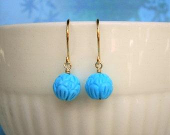 Turquoise Earrings, Gold Earrings, Silver Earrings, Wife, Sister, Mother, Best Friend, December Birthstone, Stocking Stuffer