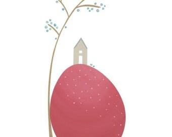 Art Print - wall print - collage print - fine art print - Easter gift - gift for women - gift for men - mother's day gift - 'HOME'