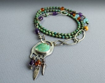 Turquoise Wrap Bracelet or Necklace