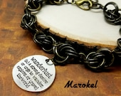 Wanderlust Chain Maille Bracelet Mobius Weave Brass Links Travel Explore