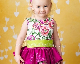 Girls Spring Dress- Easter Dress- Joyful Dress - Melon Monkeys 2017 Collection