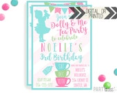 Baby Doll Tea Party Invitation | Digital or Printed | Dolly Invitation | Tea Party | Doll Birthday Party | Dolly Invitations |  Doll Party