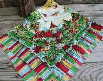 Unique and Beautiful Vintage Wearable or Decorative Scarf