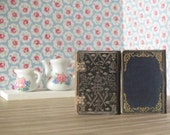 Two 1:12 Scale Dollhouse Miniature Vintage Style Books