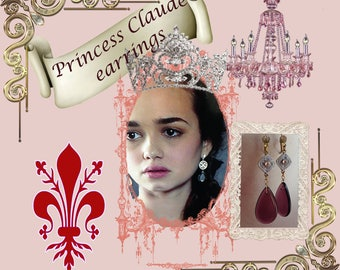 Reign Princess Claude Dazzling Amethyst Crystal Earrings