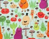 Michael Miller Edgy Veggie Print Cotton Fabric - 1 yard